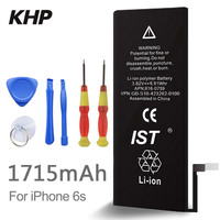 100 Original Brand KHP Phone Battery For Iphone 6S Real Capacity 1715mAh With Machine Tools Kit