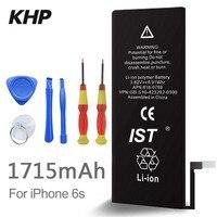100 Original Brand KHP Phone Battery For Iphone 6S Real Capacity 1715mAh With Machine Tools Kit
