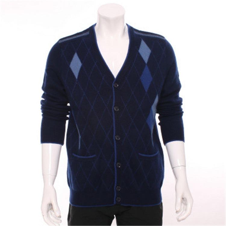 Mode Cardigan Épais blue Chèvre Tricot 3 Argyle 100 Unique Hommes Grey Cachemire En 2xl Chandail Rouge S eur Couleur Poitrine Col H red De V droite zwwOYAq