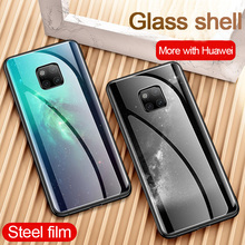 Tempered Glass Phone Case For Huawei Mate 20 Pro Mate20x Cover Shockproof Cases