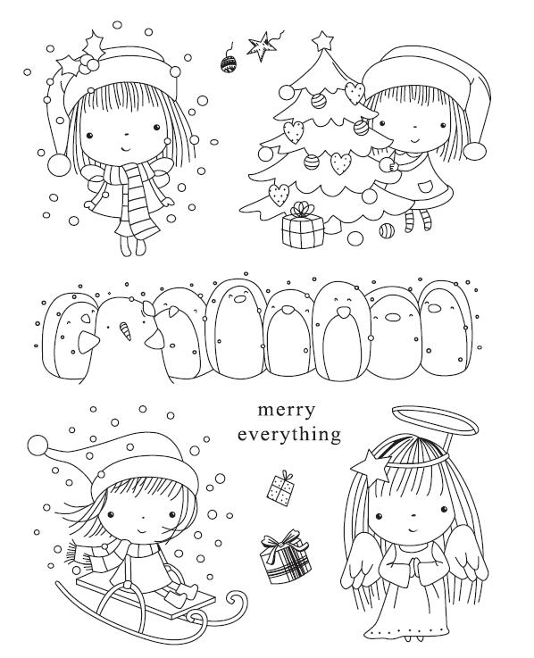 Merry Everything Transparent Clear Silicone Stamp/Seal for DIY scrapbooking/photo album Decorative clear stamp sheets A552 jay park 3rd album everything you wanted release date 2016 10 25