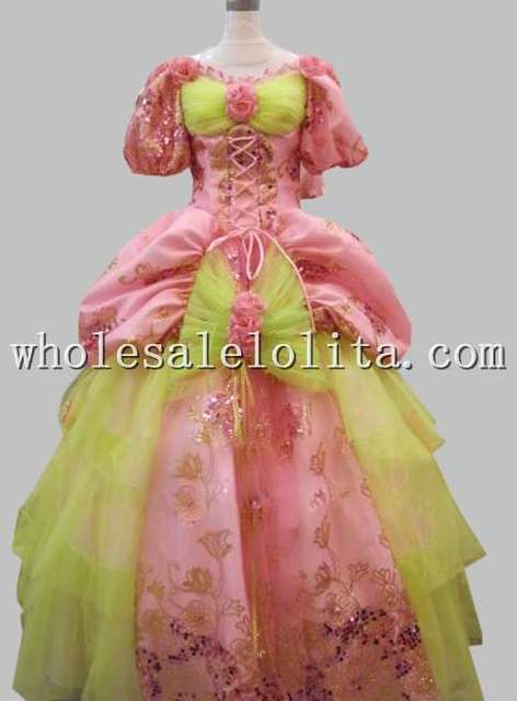 17 18th Century Marie Antoinette Baroque Rococo A Line gothic dress cosplay