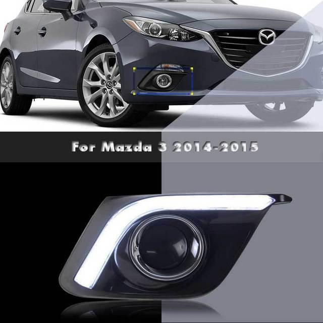 DRL LED Daytime Running Light For Mazda 3 Aftermarket Car Styling Parts Fog  Driving Lamp Rim