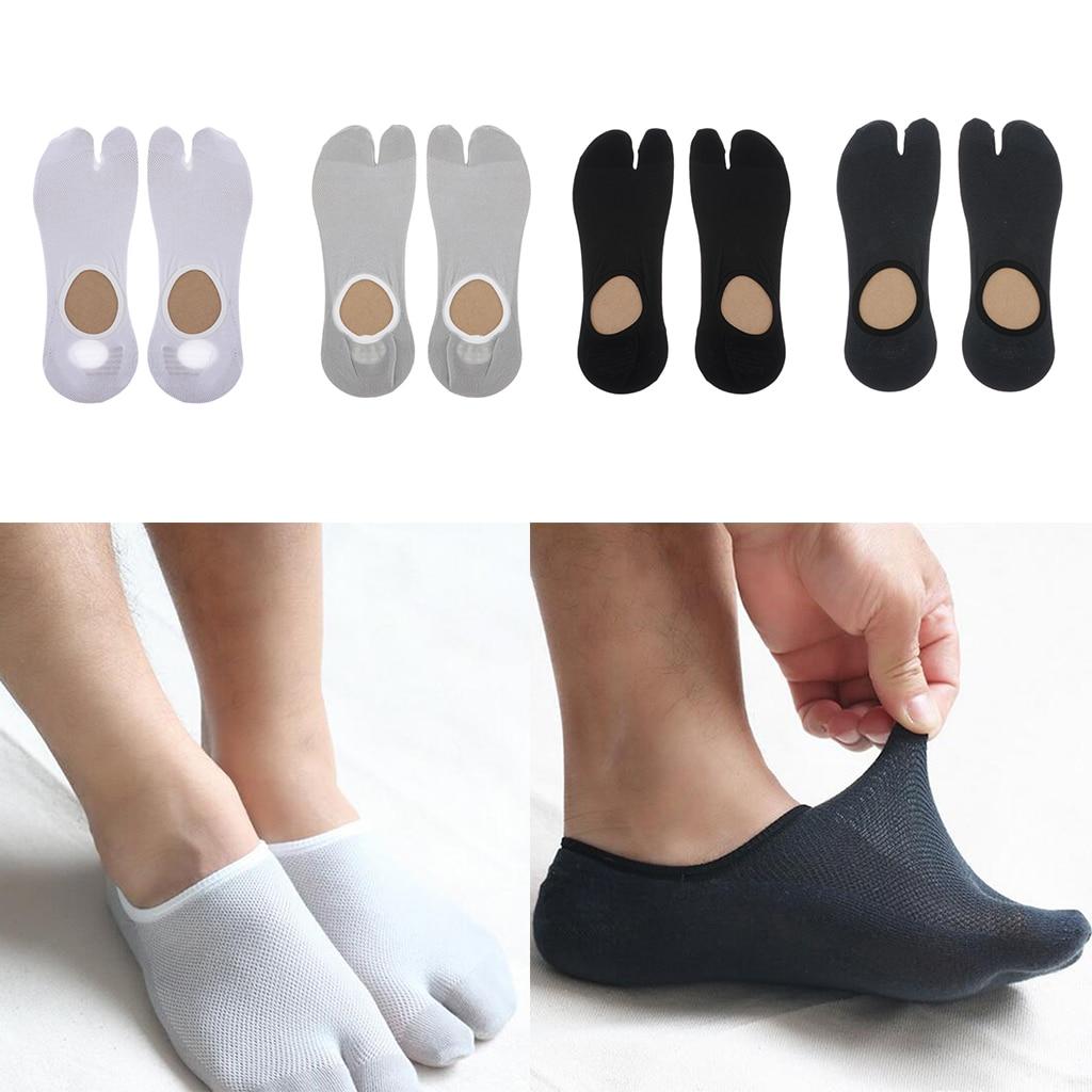 1 Pair Male Split 2 Toe Flip Flop Socks Tabi Socks Men Sports Anklets Socks Tabi Ninja Geta Socks