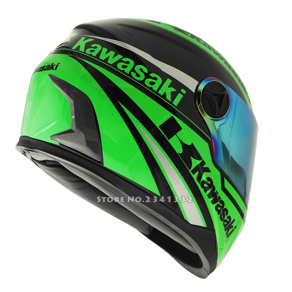 aliexpress : buy kawasaki full face motorcycle helmet racing