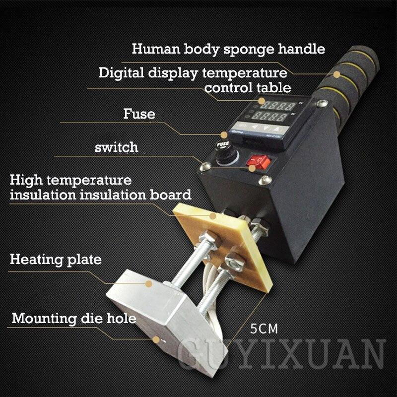 GUYX 500W tragbare heißer stanzen maschine Leder heißer stanzen maschine Holz marke/IPPC/marke Einstellbare temperatur