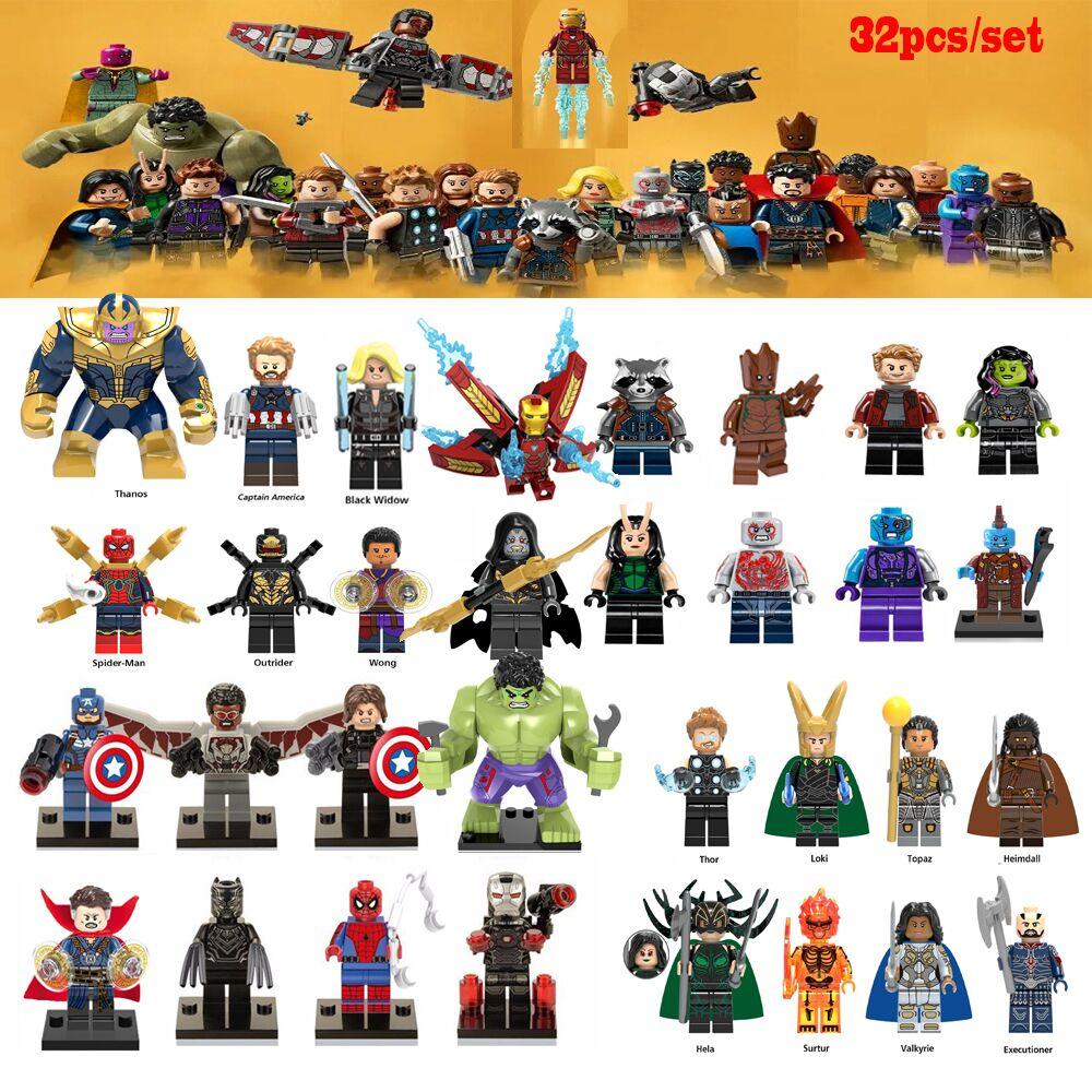 OLeKu Legoing Super Heroes Marvel Avengers DC Bricks Spiderman Iron man Batmam Model Building Blocks Super