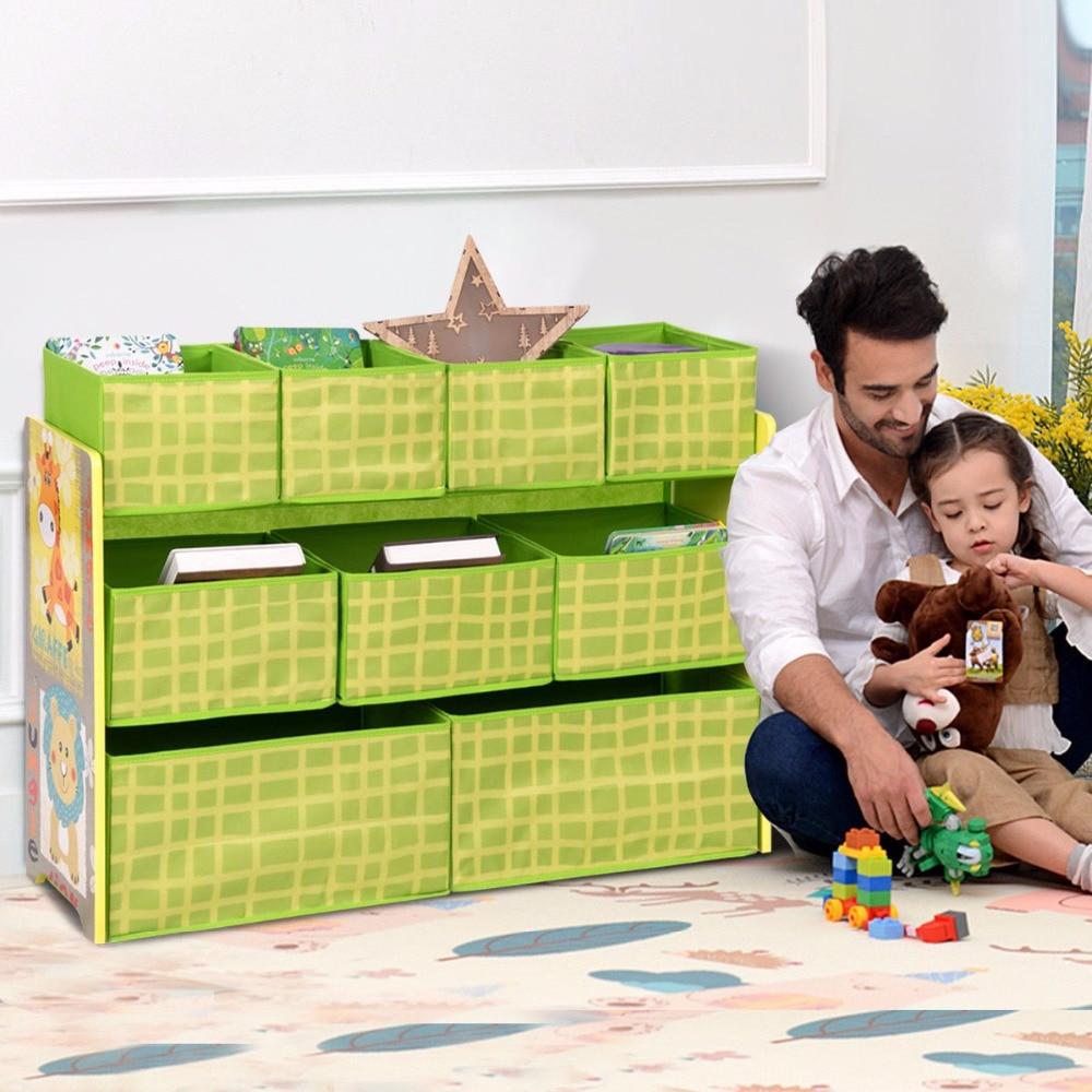 Kids Storage Cube Organizer Toy Box Kids Bedroom Furniture: Giantex Kids Toys Organizer Removable Bins Chest Storage