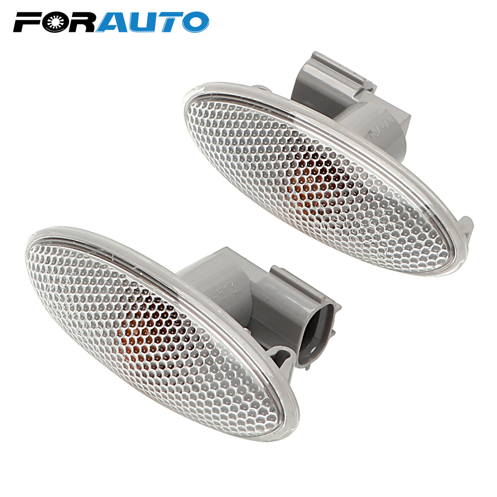 US $7 59 24% OFF|FORAUTO 1 Pair LED Car Turn Signal Lights Blinker Amber  Car styling For Toyota Corolla Camry Yaris RAV4 Turn Indicators Lamps-in