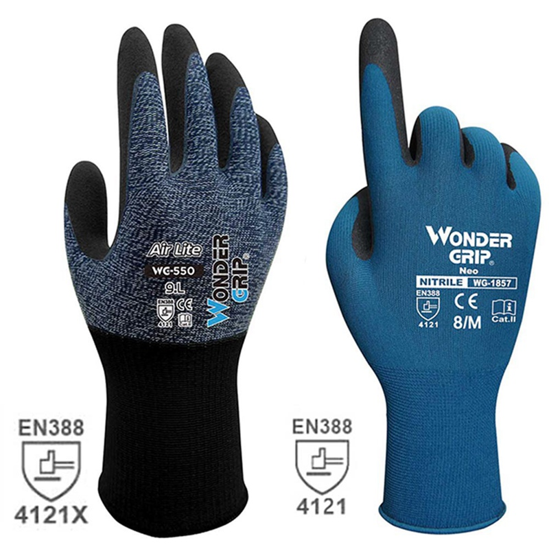 Wonder Grip 4121X-4131 Certificated Safety One Pairs Work Gloves For PU Palm Coating Safety Glove