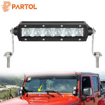 "Partol 5D Straight LED Light Bar 8"" 30W Spot Beam Car Work Light Bars Driving Lamp 4x4 Offroad 4WD 12V24V For Dodge Ford SUV VW - DISCOUNT ITEM  20% OFF Automobiles & Motorcycles"