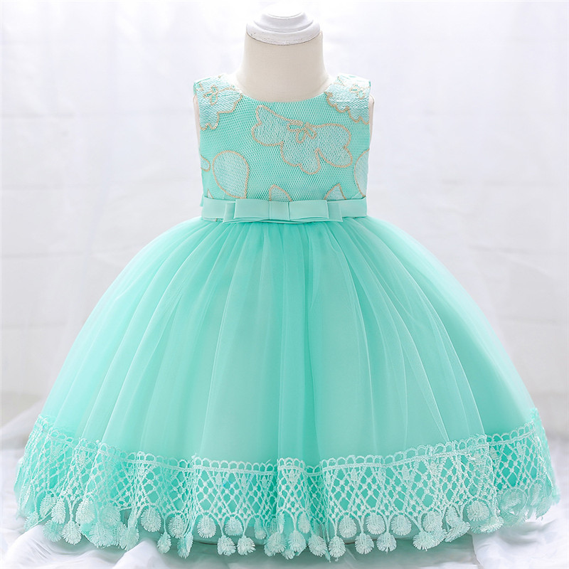 Dress Wedding Birthday-Party Girls Toddler Lace Baby Infant Summer Floral For Tutu Clothing