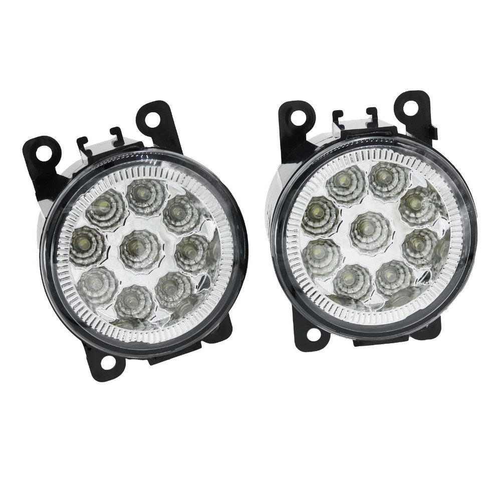 2Pcs For Ford Focus 2 Focus 3 Fiesta 2005 2006 2007 2008 2009 2010 Car 9 LED DRL Daytime Running Light Fog Lamp Fog Light aftermarket free shipping motorcycle parts eliminator tidy tail for 2006 2007 2008 fz6 fazer 2007 2008b lack