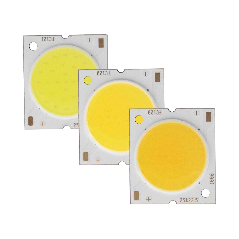 Factory Sale 22.5mm Square Aluminum Board LED COB Strip High Lumen Chip Light Source Module 10W 15W 20W 30W COB For Bulb Lamp