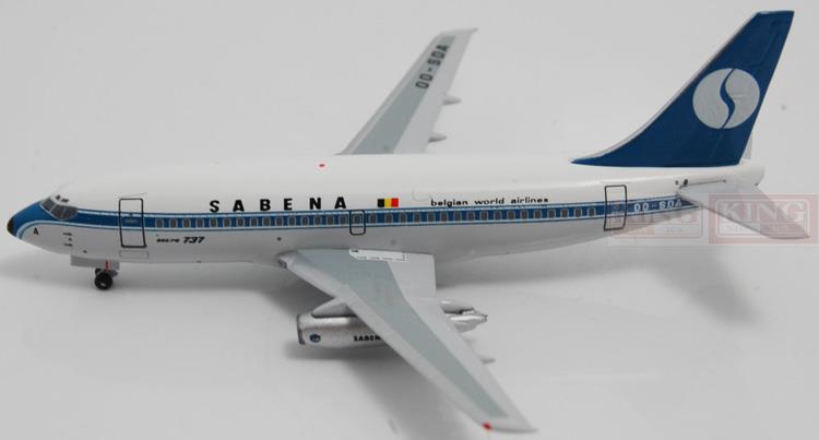 Aeroclassics Belgian aviation OO-SDA 1:400 B737-200 commercial jetliners plane model hobby