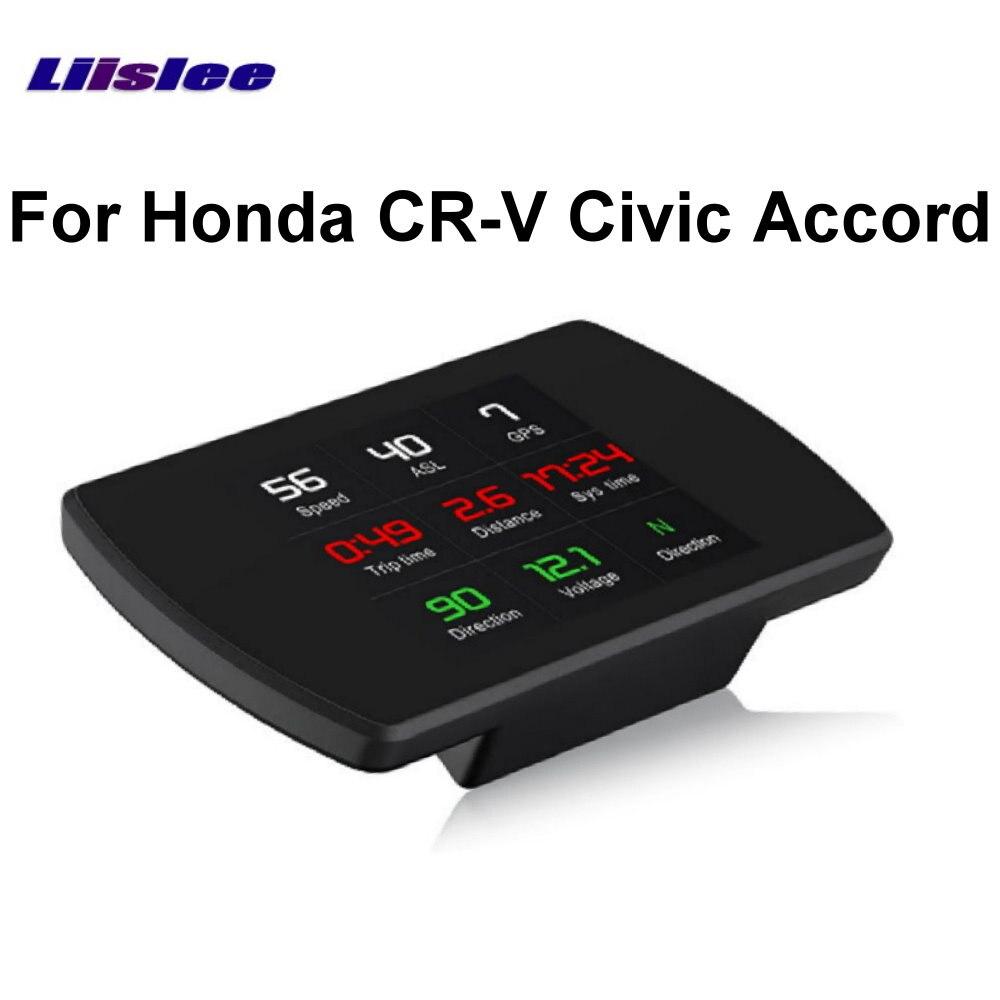 Liislee pour Honda CR-V Civic Accord GPS voiture HUD affichage tête haute ordinateur de bord OBD OBD2 compteur de vitesse numérique Projection de voiture