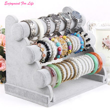 3-Tier Bar Bracelet Watch Table Jewelry Organizer Wholesale New Arrival HotHolder Rack Stand Display Free Shipping Dec 14