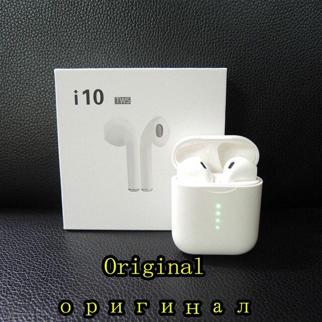 Оригинальные i10 tws Bluetooth наушники беспроводные Bluetooth 5,0 наушники сенсорные наушники для samsung Xiaomi Android телефонов i10 TWS