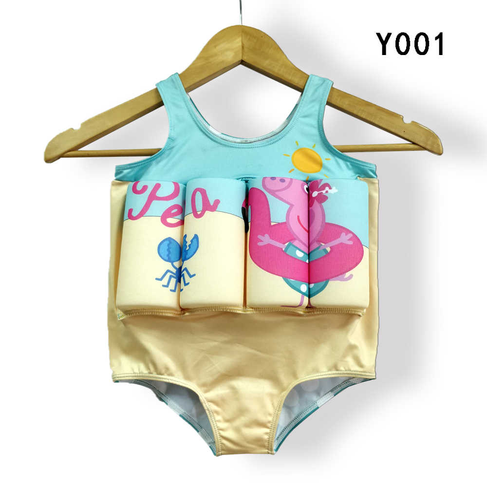 52345f11ae Floating Buoyancy Baby Boy/Girl Swimsuits Detachable Swimwear Siamese  Swimming Training Kids Swimming Float Suits