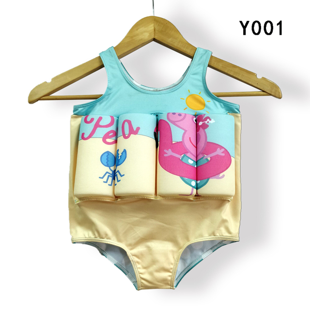 61c5bc529d Floating Buoyancy Baby Boy/Girl Swimsuits Detachable Swimwear Siamese Swimming  Training Kids Swimming Float Suits