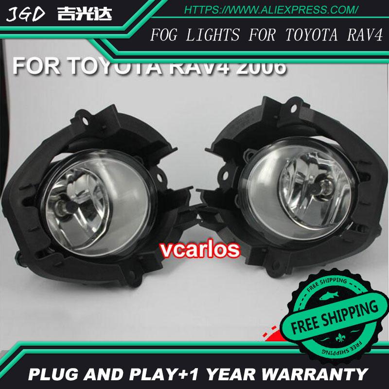 2шт / пара Галогенные Противотуманные фары для Тойота РАВ4 2006 Галоида наивысшей мощности Противотуманные фары авто DRL светодиодные фары освещения