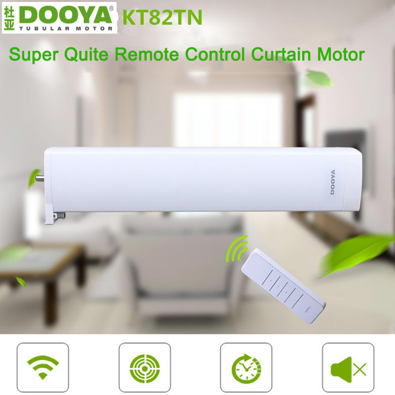 Dooya Electric Curtain Motor Automatic Electric Curtain Motors Remote Control for Smart Home Comaptible Broadlink Pro ewelink dooya electric curtain system curtain motor dt52e 45w remote control motorized aluminium curtain rail tracks 1m 6m