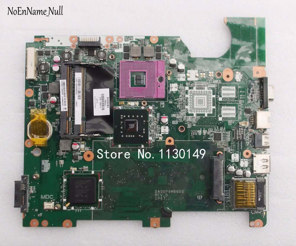 Free Shipping For HP Compaq CQ61 G61 Laptop Motherboard DA00P6MB6D0 Mainboard 517839-001 Tested Well