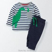 Nouveau 2017 Marque Qualité 100% Terry Coton Bébé Garçons Vêtements ensembles Vêtements Pour Enfants Costumes Manches Longues Bebe Enfants Vêtements Ensembles garçons