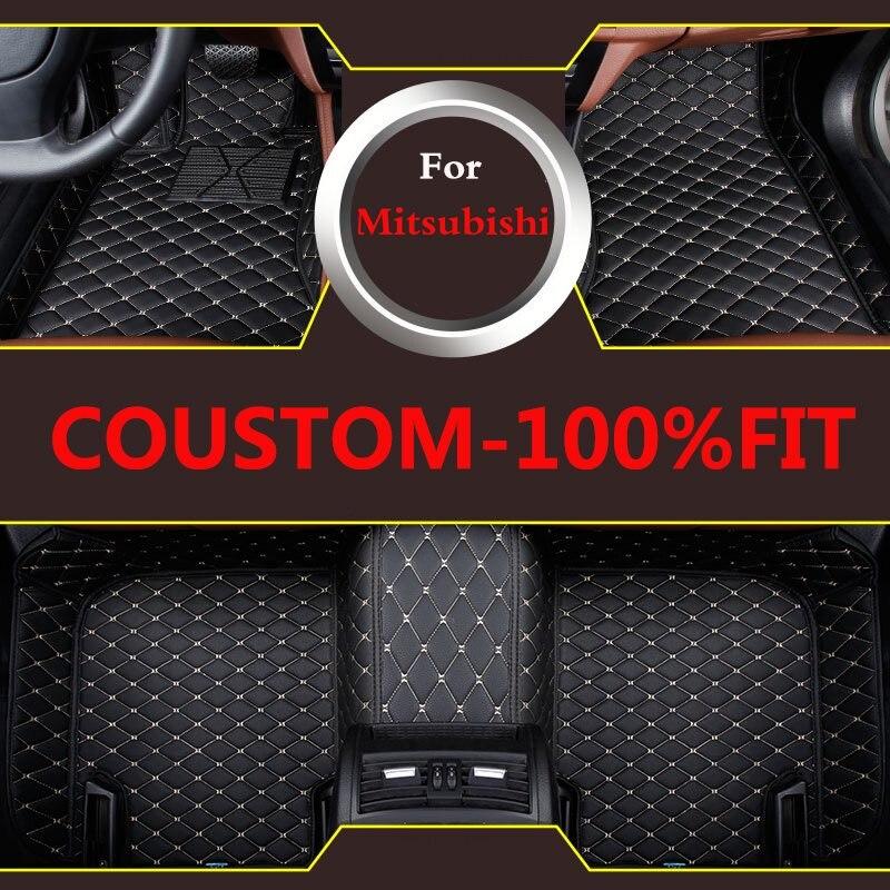 3d tapis de sol en cuir artificiel sur mesure pour la plupart des tapis de voiture pour Mitsubishi Phev