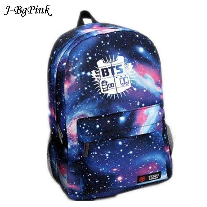 все цены на Bangtan Boys BTS backpack,korean kpop stars school bag , boys girls canvas book laptop satchel ,V,Rap Monster,JIN,SUGA