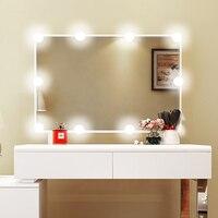 ערכת נורות LED לשולחן איפור איפור מראת איפור עם דימר USB plug and 10 יחידות הנורה 1200lm לבן, Linkable