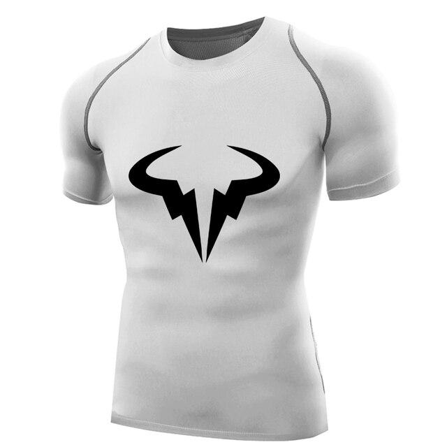 2017 rafael nadal shirt compression shirt men short king Natto ...