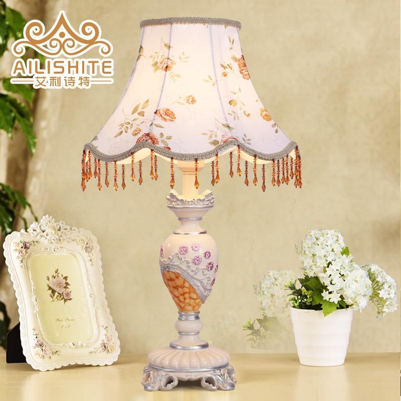 TUDA 34X55cm Free Shipping European Classical Style Table Lamp Decorative Fabric Lampshade Table Lamp Resin Table Lamp LED Lamp vivin 34 55 1 vh058