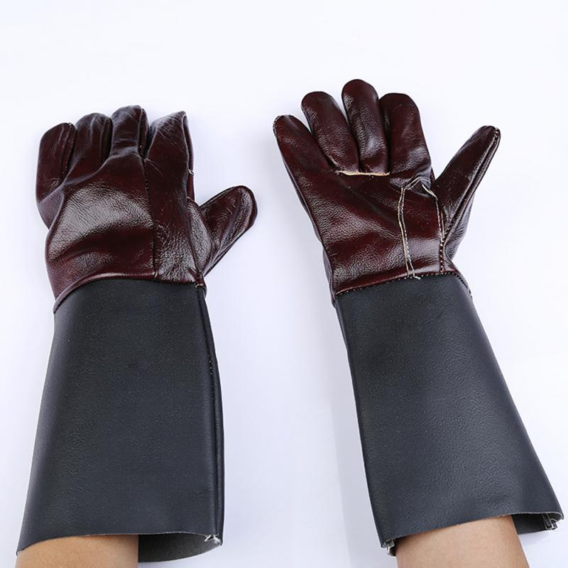 1 Pair Multifunction Welding Glove Worker Leather Barbecue Gloves Working Garden Protective Cut Resistant Long Sleeve Glove