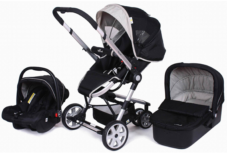 2 in1 Newborn Baby Pram Baby Stroller Buggy Pushchair Travel System