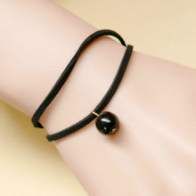 1 Pcs Sell Double Flannelette Black Beads Bangles Multilayer Rope Bracelet for Women&Men Friendship Bracelets High Quality(China)