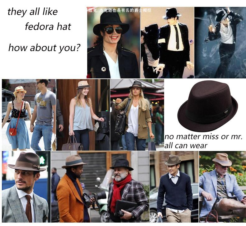 vintage fedora hat black fedora hats for men wool felt hat mens hats fedoras mens fedora hats winter vintage hat jazz hat (4)