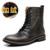 Qualidade superior Homens Marca de Neve Botas de Inverno 2016 Genuína Artesanal de Couro Homens Sapatos de Inverno Mais Quente Tamanho 38-44
