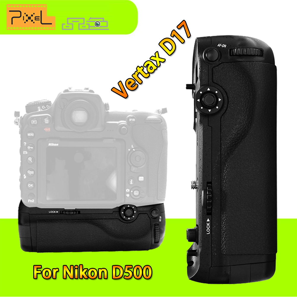 Professional Battery Grip Pixel Vertax D17 for Nikon D500 Compatible With EN-EL15 and AA Battery( Replacement for Nikon MB-D17) цена и фото
