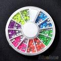 24X500Pcs 6 Colors 3D Nail Art Decorations Beauty DIY Metallic Round Square Studs