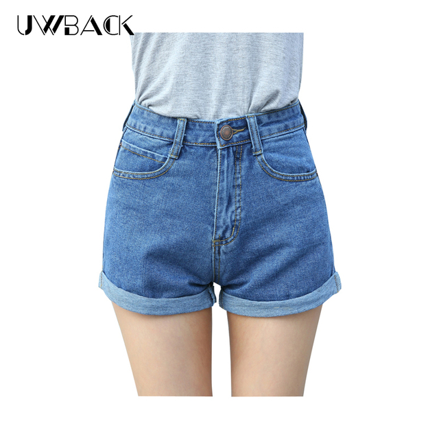 afc169d7753 Uwback 2017 new brand summer shorts women jeans denim high waisted plus  size women jeans short