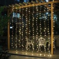 3M x 3M 300 LED String curtain light Outdoor Party christmas festiva String Fairy Wedding Curtain Light for Choice 110V/220V