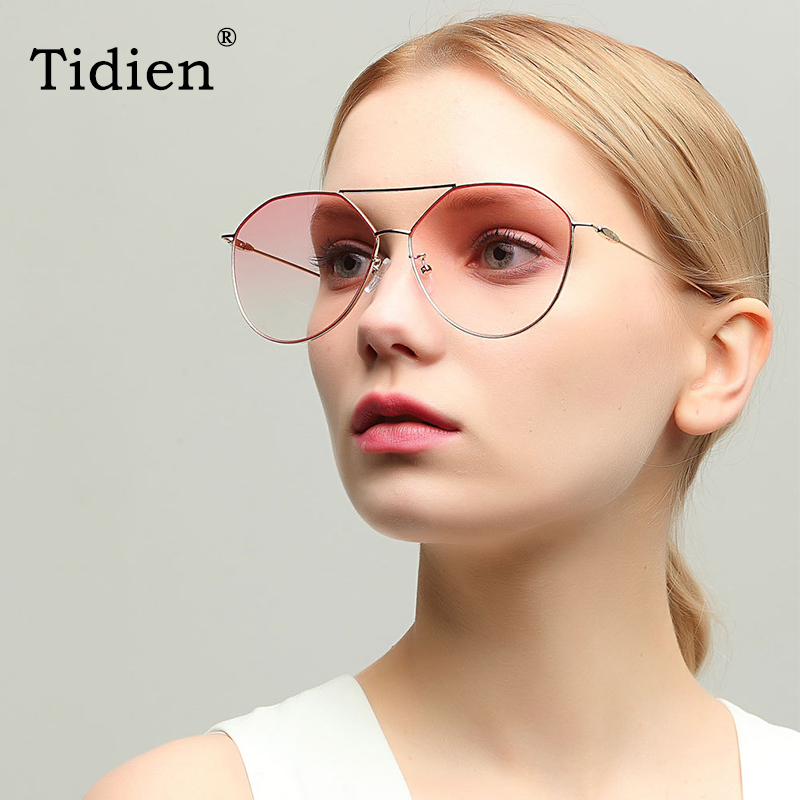 Tidien Fashion Round Sunglasses Women Travel Fishing Driving Classic Metal Sun Glasses Ladies <font><b>A1136</b></font> image
