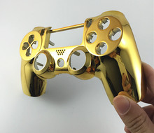 PS4 Chrome Plating Front Up Top Housing Shell Case Custom Modded Controller Gamepad Joystick Handle Hand Shank Grip for PS4