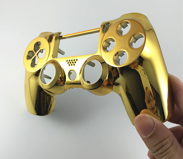 US $7 63 9% OFF|PS4 Chrome Plating Front Up Top Housing Shell Case Custom  Modded Controller Gamepad Joystick Handle Hand Shank Grip for PS4-in Cases