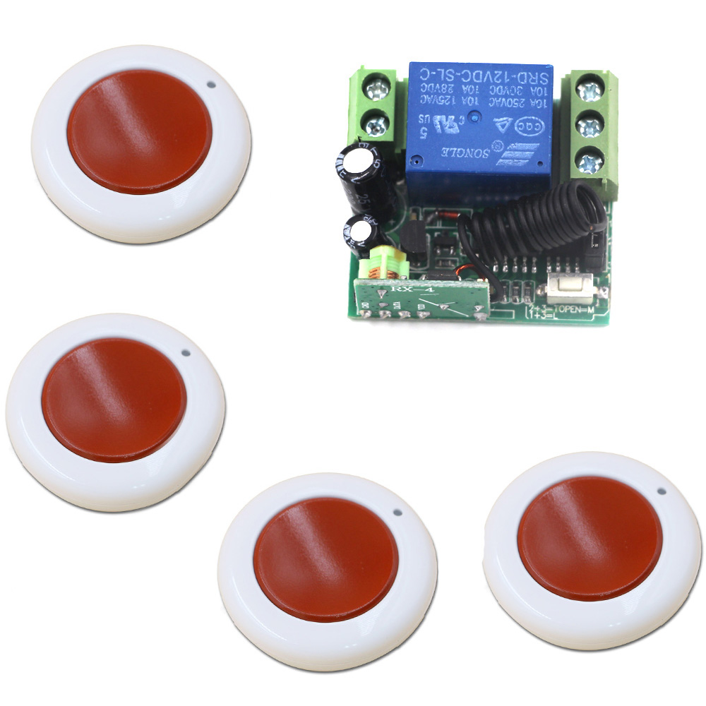 Latest DC 12V 10A Relay 1CH Wireless RF Mini Remote Control Switch Transmitter + Receiver Light Switch Accessaries 315/433MHZ dc 12v photoresistor module relay light detection sensor light control switch l057 new hot
