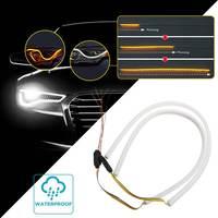 2pcs Lot 60cm DRL Flexible LED Tube Strip Daytime Running Lights Turn Signal Light Angel Eyes