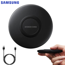 Original SAMSUNG Ultra Thin Qi Fast Wireless Charger for Samsung Galaxy S10+ S9 S9+ Note 10 iPhone X Quick