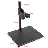 2019 NEW 40mm Adjustment Lens Holder Aluminum Alloy Industrial Digital Microscope Camera Table Stand For HDMI VGA USB Camera