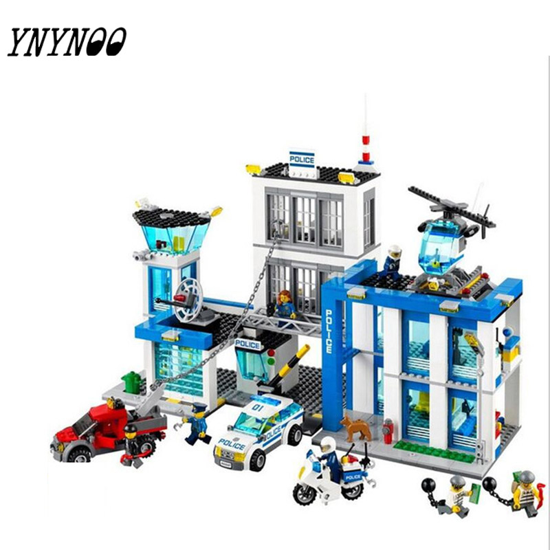 (YNYNOO)10424 Compatible City  Block Police Station 60047 Building Bricks Emma Mia Figure Toys For Children Girls compatible lepin city block police dog unit 60045 building bricks bela 10419 policeman toys for children 011